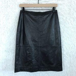 Leather Pencil Skirt Black Banana Republic